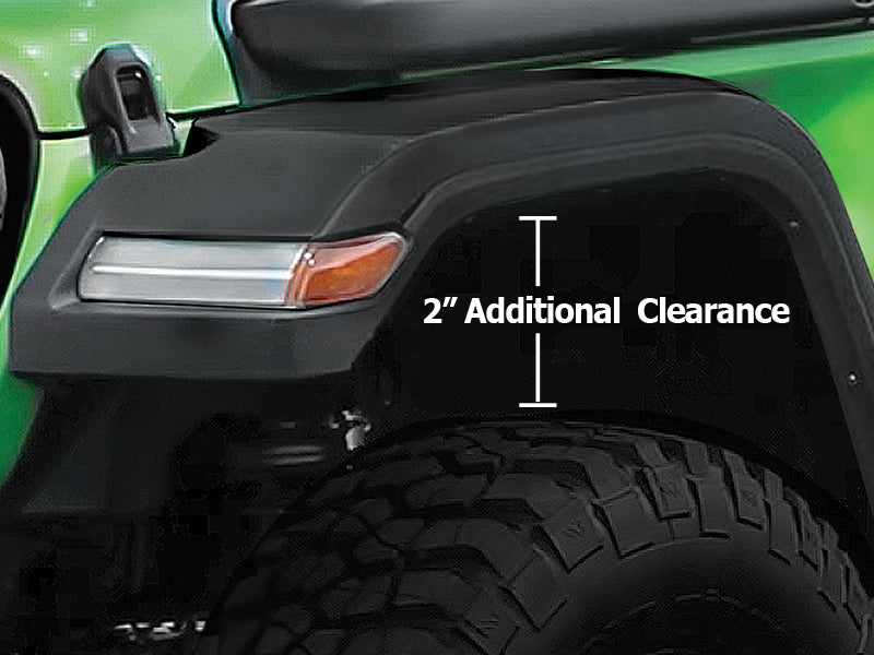 Mopar Fender Flares For 18 Up Jeep Wrangler Jl Jl Unlimited Fortec4x4