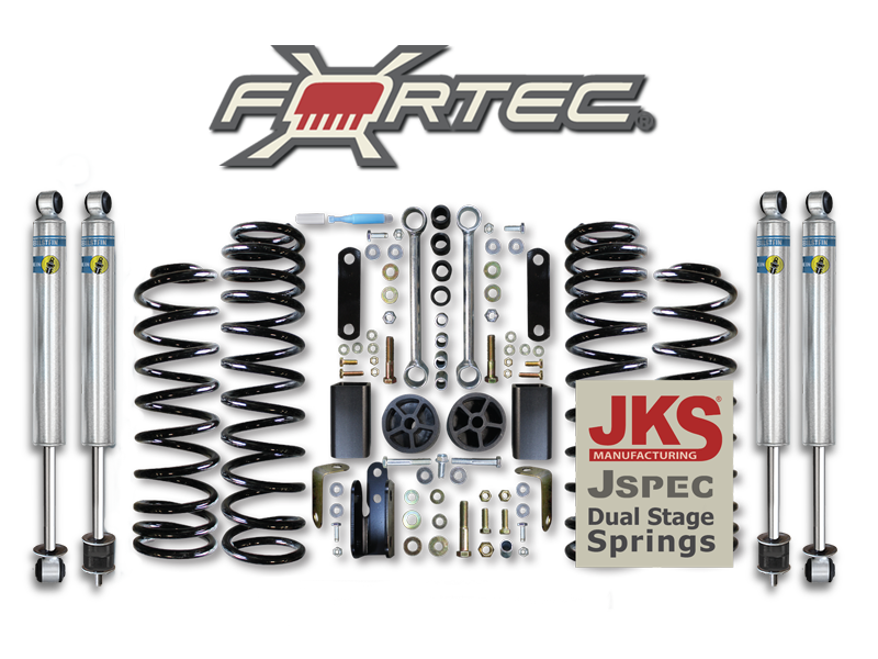 "FORTEC 2.5"" Shop Suspension Kit for 07-18 Jeep Wrangler JK & JK Unlimited"