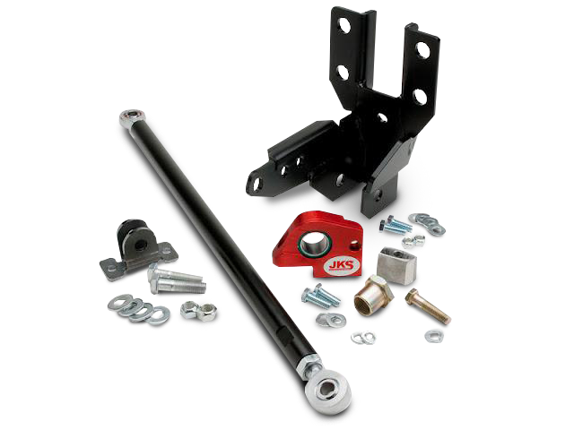 JKS Manufacturing Front Trackbar & Sector Shaft Reinforcement Kit for 07-18 Jeep Wrangler JK & JK Unlimited with 2