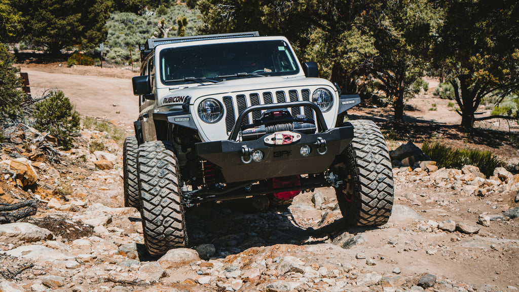 BODY ARMOR Front Bumper - Mid Stubby for 18-up Jeep Wrangler JL & JL Unlimited