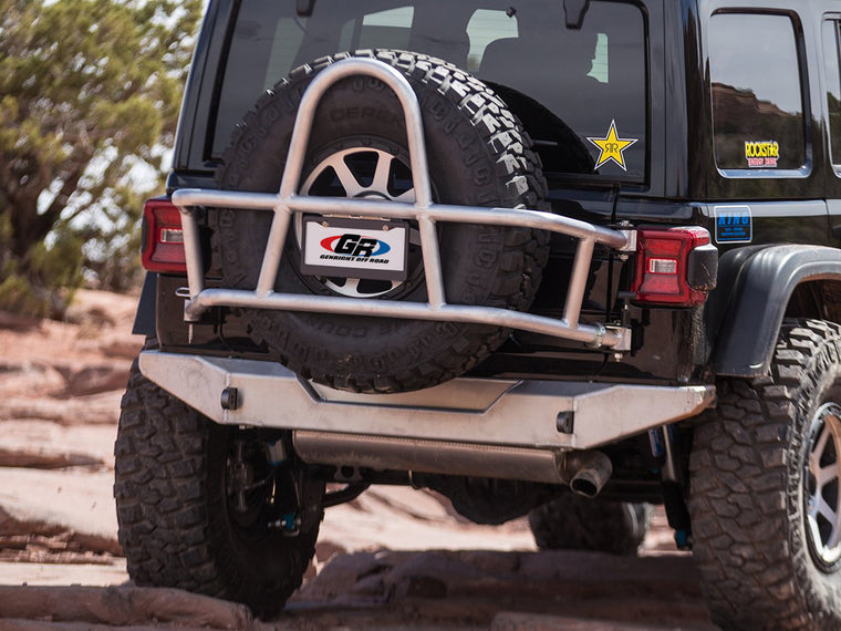 GENRIGHT OFFROAD  Rear Bumper, Aluminum for 18-up Jeep Wrangler JL & JL Unlimited