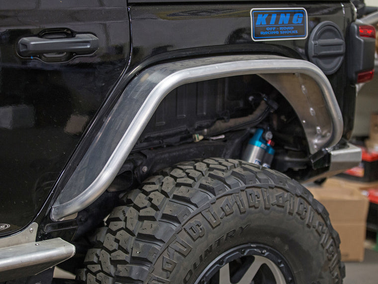 "GENRIGHT OFFROAD  4"" Rear Tube Narrow Fenders - Aluminum for 18-up Jeep Wrangler JL & JL Unlimited"