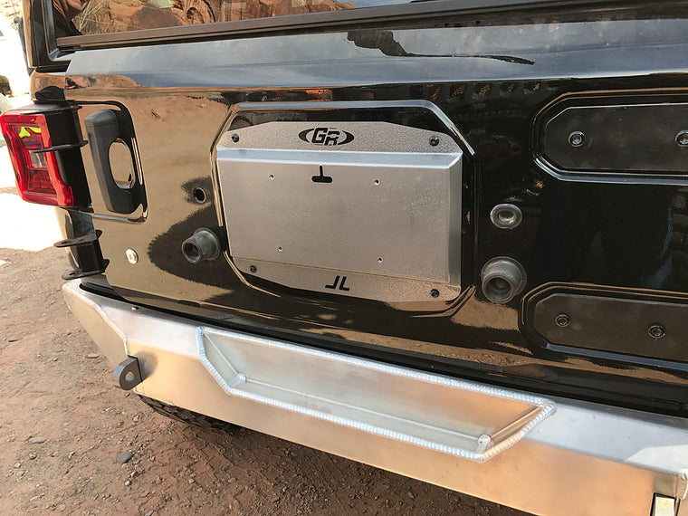 GENRIGHT OFFROAD Cover & License Plate Mount for Tail Gate for 18-up Jeep Wrangler JL & JL Unlimited