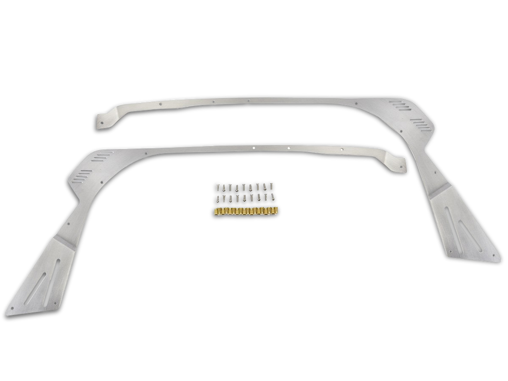 "GENRIGHT OFFROAD 0"" Fender Flare Delete Plates Front - Aluminum for 18-up Jeep Wrangler JL & 20-up Jeep Gladiator JT"