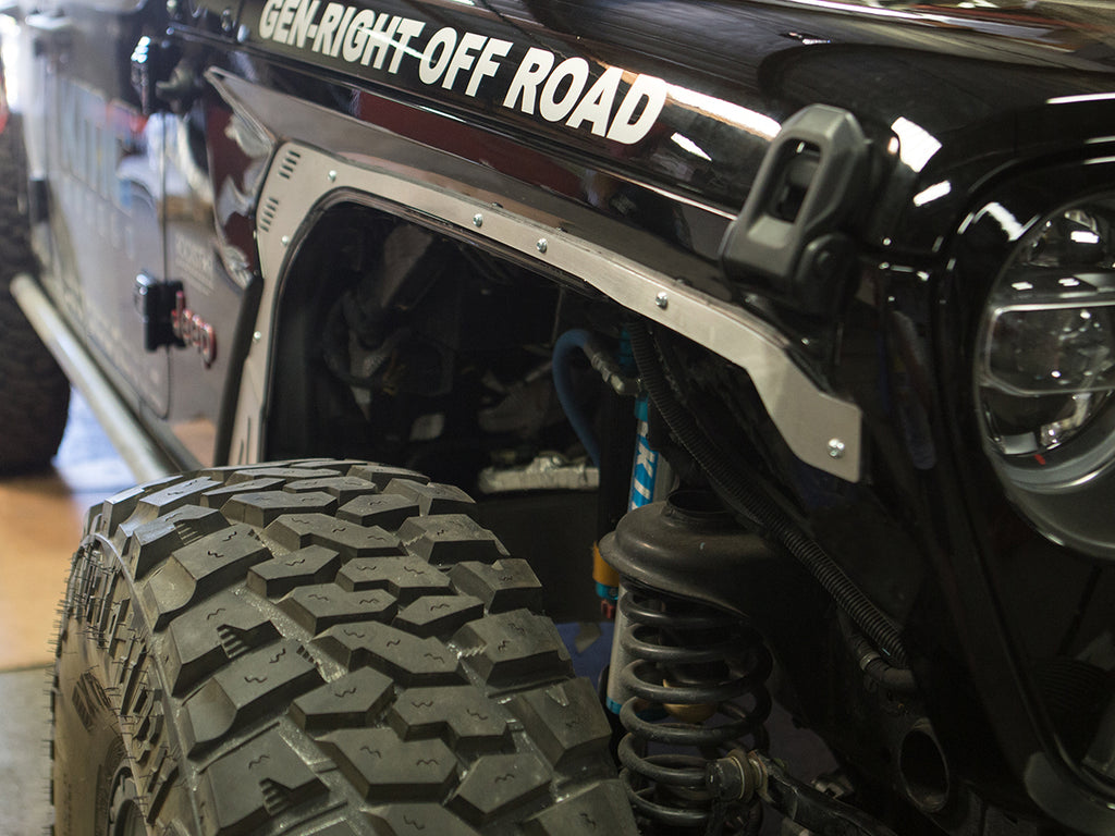 Genright Offroad 0 Fender Flare Delete Plates Front Aluminum For 18 Fortec4x4