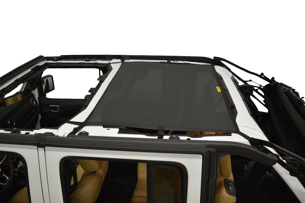 DIRTYDOG4x4 Sun Screen Rear in Black for 18-up Jeep Wrangler JL Unlimited