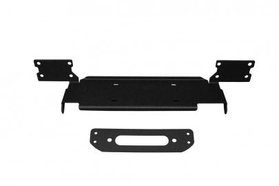 JCR OFFROAD Steel Bumper Winch Plate, Textured Black for 18-up Jeep Wrangler JL & JL Unlimited