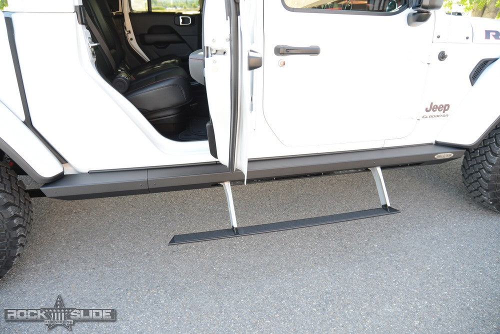 ROCK-SLIDE Step Slider Set , 4-Door Only for 20-up Jeep Gladiator JT