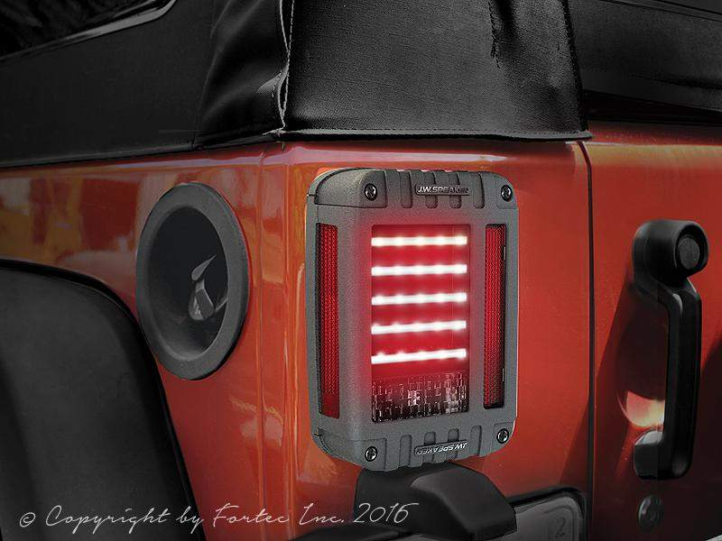 J.W. SPEAKER 279 J Series LED Tail Light Kit for 07-18 Jeep Wrangler JK & JK Unlimited