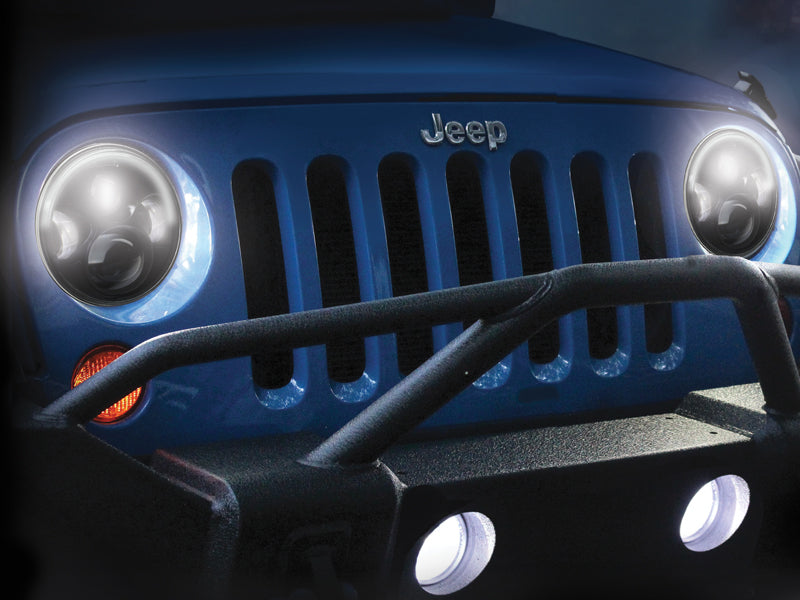 "J.W. SPEAKER 7"" 8700 Evolution J2-Series LED Headlight Kit, Pair for 07-18 Jeep Wrangler JK & JK Unlimited"