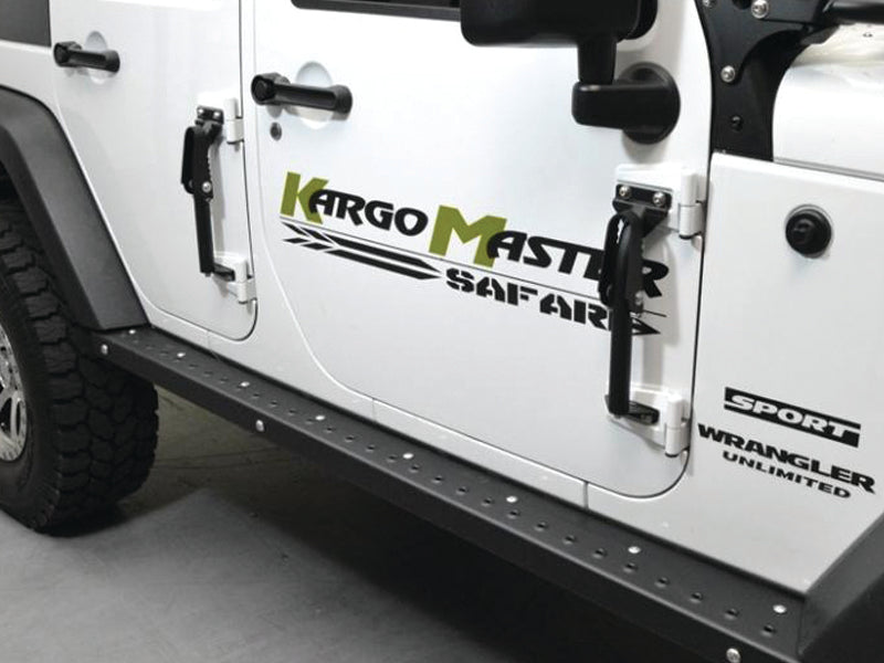 KARGO MASTER Congo Pro Hinge Steps, Pair for 07-18 Wrangler JK & JK Unlimited