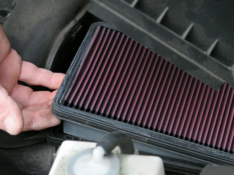K&N Air Filter for 07-18 Wrangler JK 3.8L & 3.6L