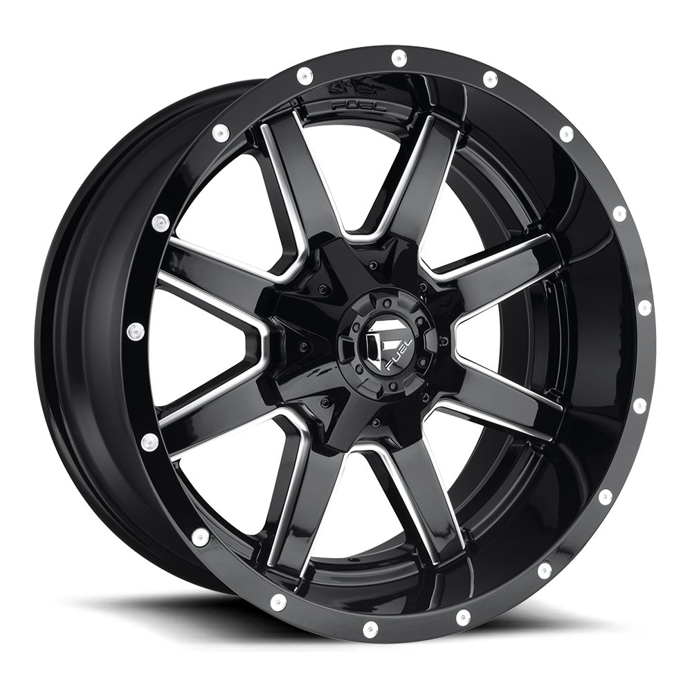 "FUEL D610 ""MAVERICK"" Wheel in Gloss Black for 07-up Jeep Wrangler JK, JL & JT Gladiator"