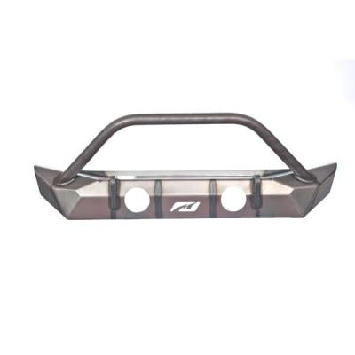 MOTOBILT Front Bumper Hammer Series w/ Fog Light Cut Outs for 18-up Jeep Wrangler JL & 20-up Jeep Gladiator JT