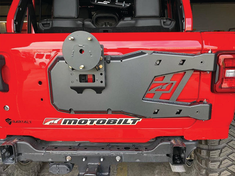 "MOTOBILT Tire Carrier (up to 40"") for 18-up Jeep Wrangler JL & JL Unlimited"