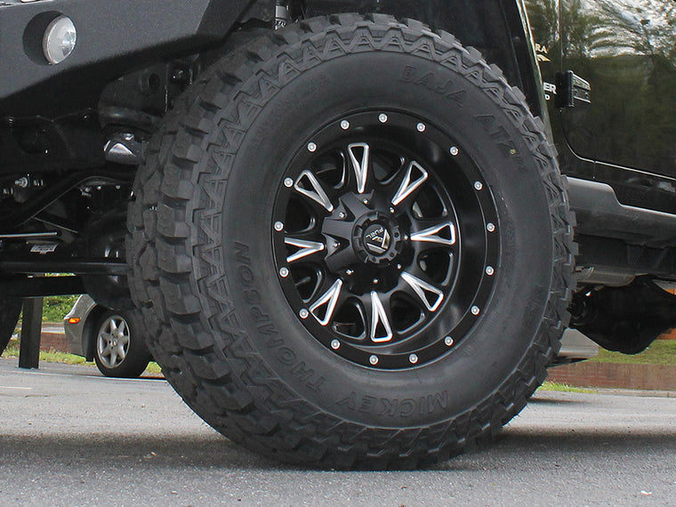 "FUEL D513 ""THROTTLE"" Wheel in Satin Black for 07-18 Jeep Wrangler JK & 18-up Jeep Wrangler JL"