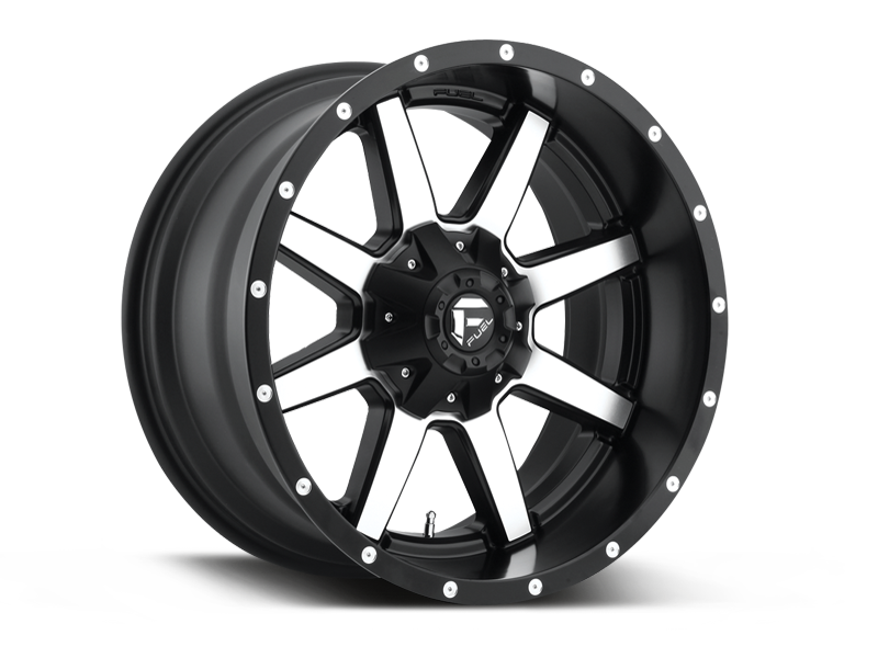 Fuel D537 Maverick Wheel In Satin Black Machined For 07 18 Jeep