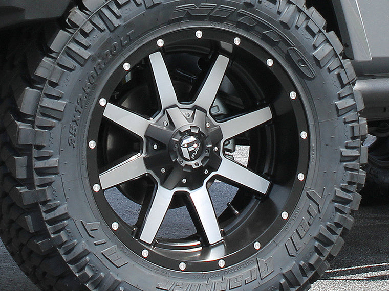 "FUEL D537 ""MAVERICK"" Wheel in Satin Black Machined for 07-18 Jeep Wrangler JK & 18-up Jeep Wrangler JL"