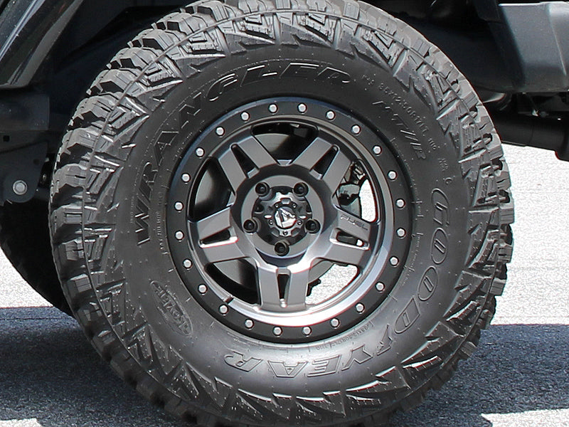 "FUEL D558 ""ANZA"" Wheel in Satin Gray with Satin Black Ring for 07-up Jeep Wrangler JK, JL & JT Gladiator"