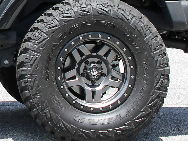 "FUEL D558 ""ANZA"" Wheel in Satin Gray for 07-18 Jeep Wrangler JK & 18-up Jeep Wrangler JL"