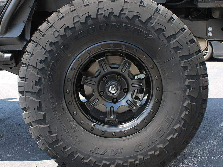 "FUEL D572 ""JM2"" Wheel in Satin Black - Milled Spokes for 07-up Jeep Wrangler JK, JL & JT Gladiator"