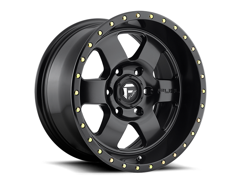 "FUEL D618 ""PODIUM"" Wheel in Satin Black for 07-up Jeep Wrangler JK, JL & JT Gladiator"