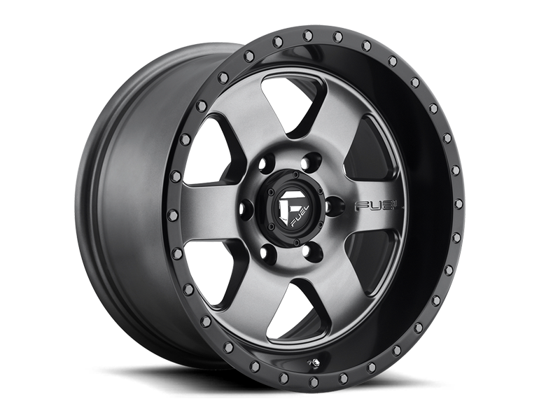 "FUEL D619 ""PODIUM"" Wheel in Satin Anthracite with Satin Black Lip for 07-up Jeep Wrangler JK, JL & JT Gladiator"