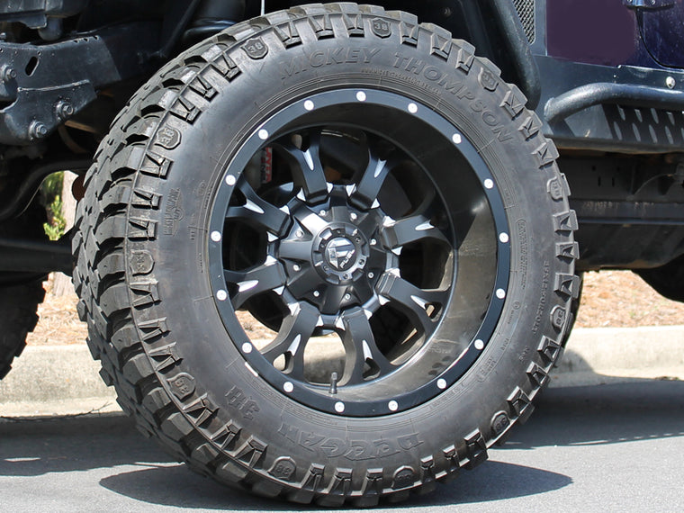 "FUEL D517 ""KRANK"" Wheel in Satin Black for 07-18 Jeep Wrangler JK & 18-up Jeep Wrangler JL"