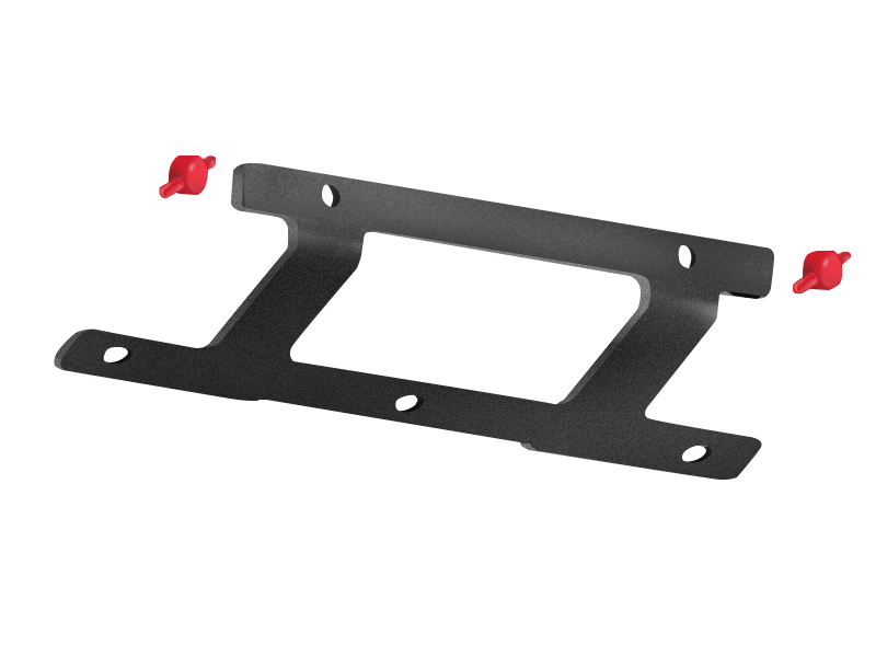 MAXIMUS-3 Low Mount License Plate Bracket for FORTEC F4 & 10th Anniversary Jeep Wrangler JK & JK Unlimited