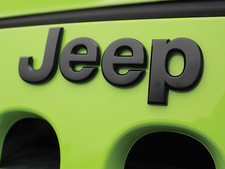 MOPAR Jeep Name Plate in Black for All Models