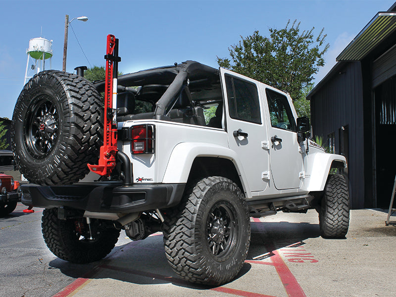 N-FAB Predator Pro Nerf Steps, 100% Full Aluminum, Textured Black, 4-Door Only for 07-18 Jeep Wrangler JK Unlimited