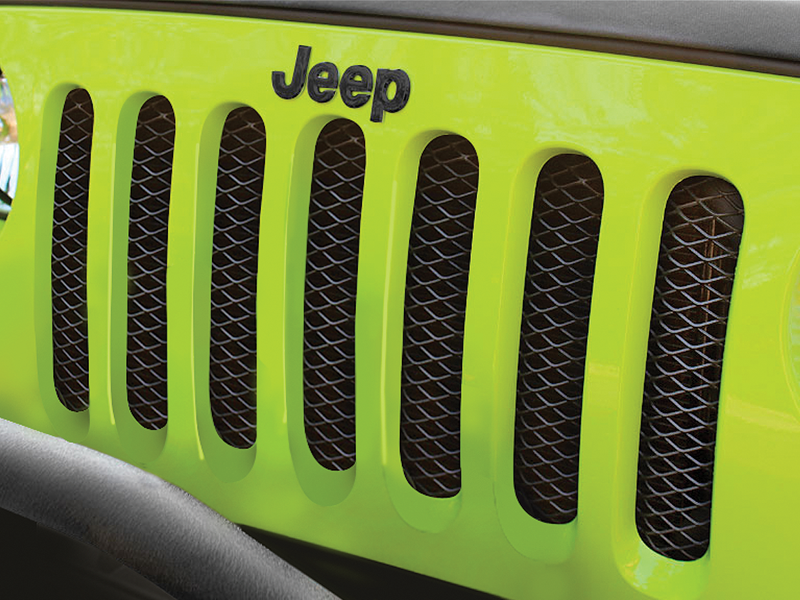 RUGGED RIDGE Mesh Grille Insert Screen for 07-18 Jeep Wrangler JK & JK Unlimited