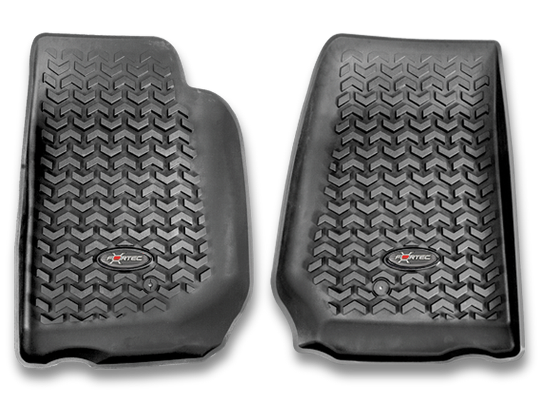 FORTEC Front Floor Liners in Black