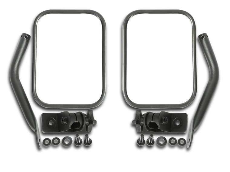 RUGGED RIDGE Quick Release Rectangular Mirror Kit for 97-18 Jeep® Wrangler TJ, JK, TJ Unlimited & Wrangler Unlimited JK