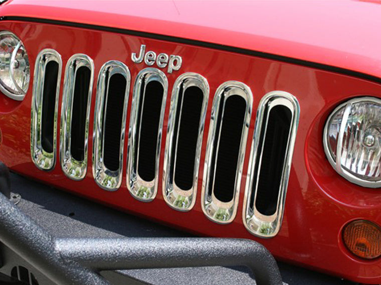 RUGGED RIDGE Grille Inserts in for 07-18 Jeep Wrangler JK & JK Unlimited