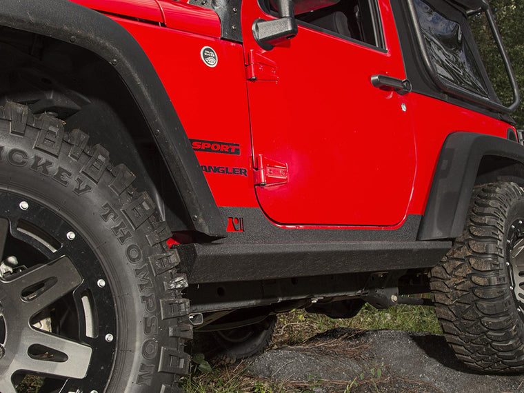 RUGGED RIDGE XHD Rock Sliders with Integrated Steps, for 07-18 Jeep Wrangler JK & JK Unlimited