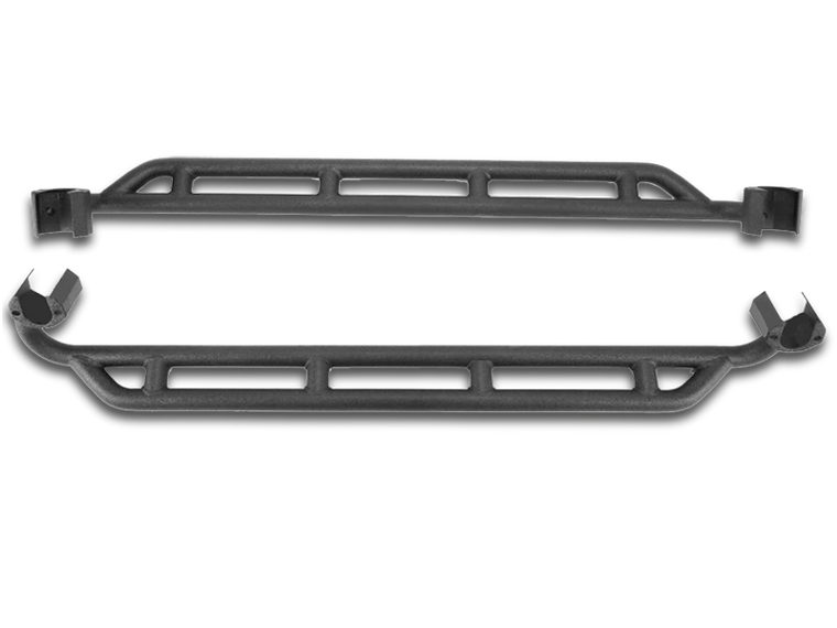 RUGGED RIDGE RRC Side Rocker Guards, Textured Black, Pair (=SB 76643) for 07-18 Jeep Wrangler JK & JK UNLIMITED