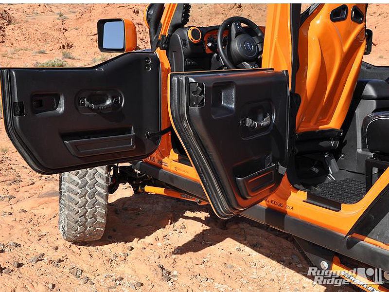 RUGGED RIDGE ABS Plastic Half Door for 07-18 Jeep Wrangler JK & JK Unlimited