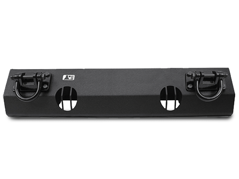 RUGGED RIDGE Front XHD Bumper Base without Winch Cut Out, Textured Black for 07-18 Jeep Wrangler JK & JK Unlimited