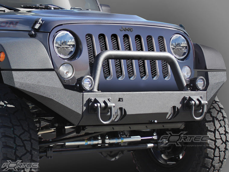 RUGGED RIDGE Front Hoop Over-Rider for XHD Bumper, Textured Black for 07-18 Jeep Wrangler JK & JK Unlimited