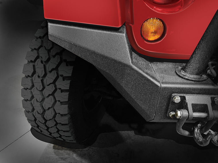 RUGGED RIDGE High Approach Ends for XHD Front Bumper for 07-18 Jeep Wrangler JK & JK Unlimited