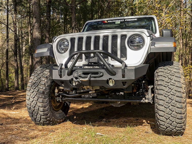 RUGGED RIDGE HD X-Striker, Front, 07-18 Jeep Wrangler JK, 18-up Jeep Wrangler JL and 20-up Jeep Gladiator JT