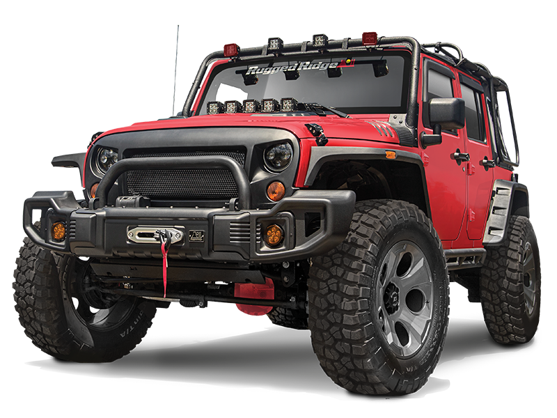 RUGGED RIDGE Spartacus Front Bumper, Textured Black for 07-18 Jeep Wrangler JK & JK Unlimited