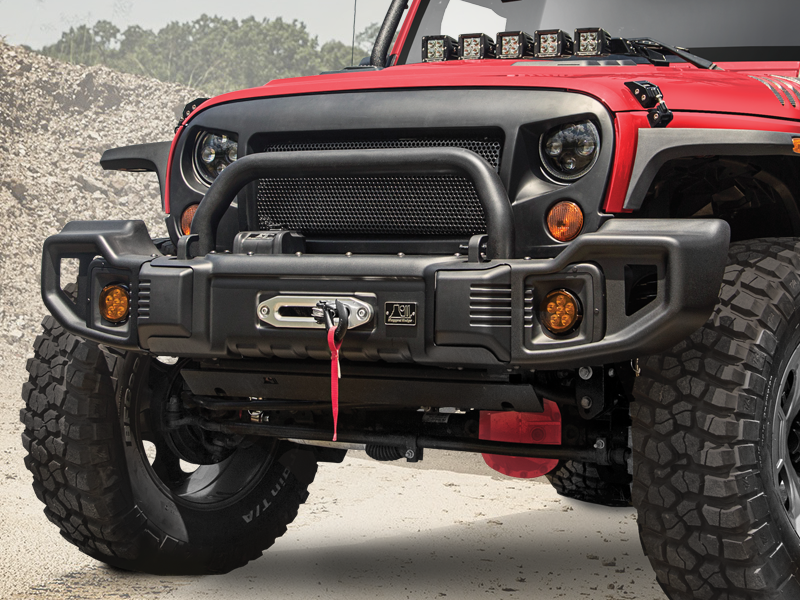 RUGGED RIDGE Hoop for Spartacus Front Bumper, Textured Black for 07-18 Jeep Wrangler JK & JK Unlimited