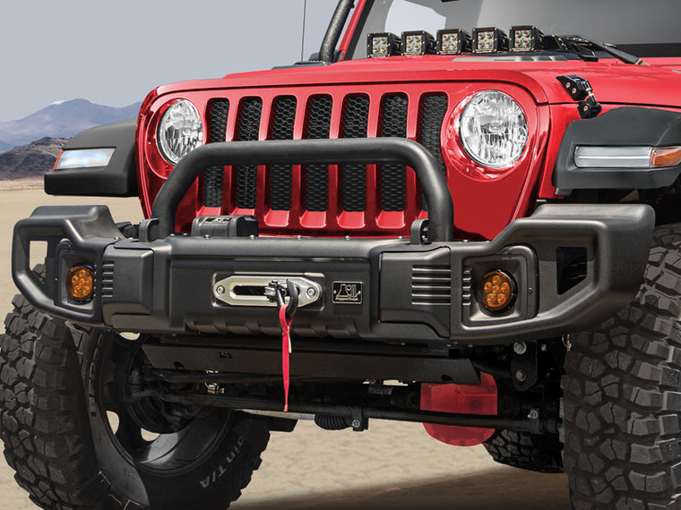 RUGGED RIDGE Spartacus Front Bumper for 18-up Jeep Wrangler JL & JL Unlimited