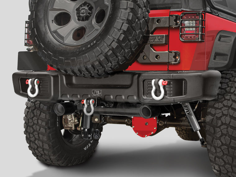 RUGGED RIDGE Spartacus Rear Bumper, Textured Black for 07-18 Jeep Wrangler JK & JK Unlimited