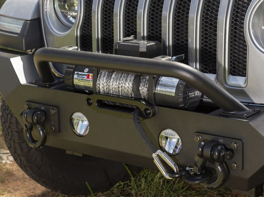 RUGGED RIDGE Spartan Front Bumper, HCE, with Overrider for 18-up Jeep Wrangler JL & JL Unlimited