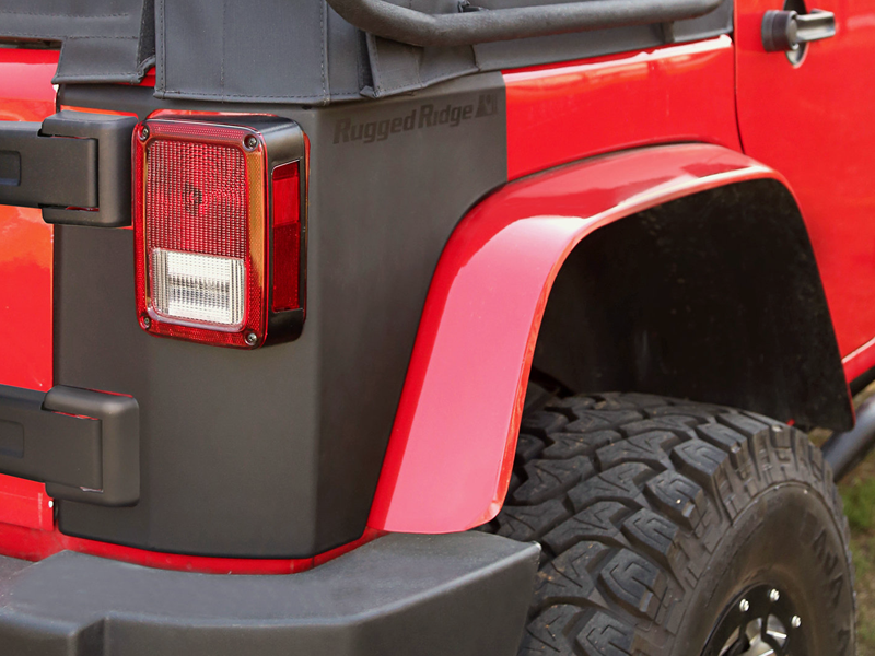 RUGGED RIDGE Corner Body Armor for 07-18 Jeep Wrangler JK Unlimited