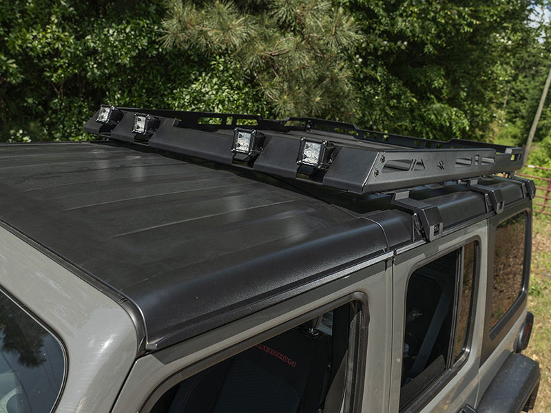 RUGGED RIDGE Roof Rack with Basket, 4 Door Only for 18-up Jeep Wrangler JL & JL Unlimited