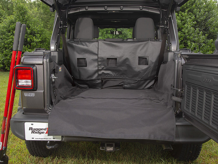 RUGGED RIDGE C3 Rear Cargo Cover, 4-Door Only for 18-up Jeep Wrangler JL & JL Unlimited